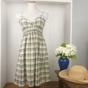At Last Plaid Sundress- gathered elastic waist